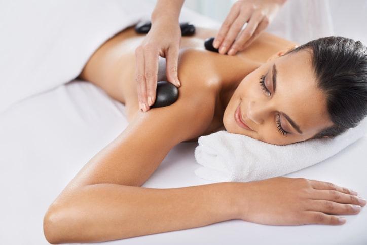 Resort hot stone massage
